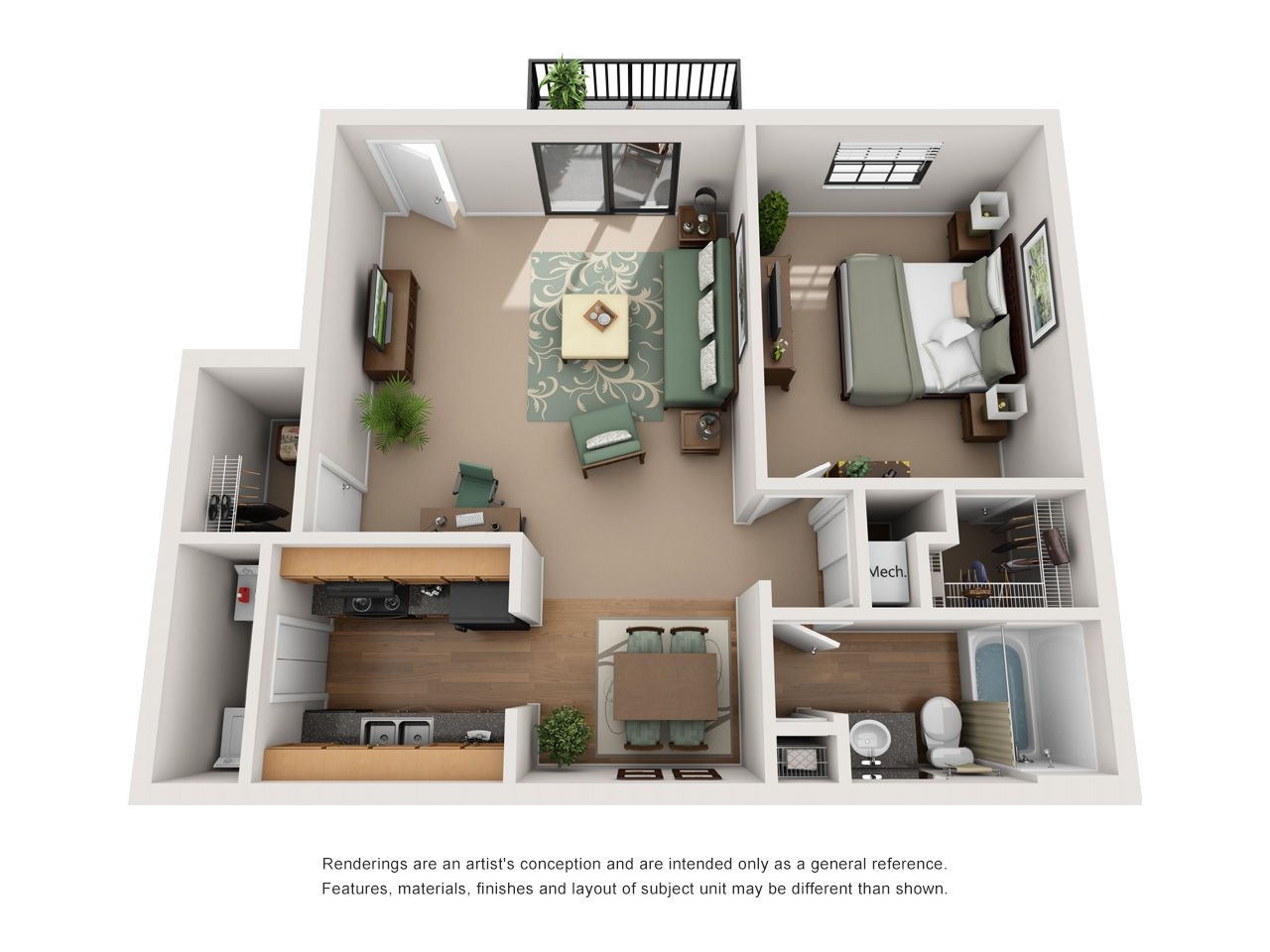 One and Two Bedroom Apartments in Indianapolis, IN