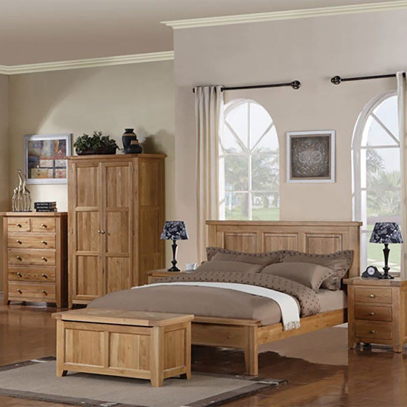 Devon Solid Oak Bed Sizes 4ft 6 5ft Ametis E Shape 2