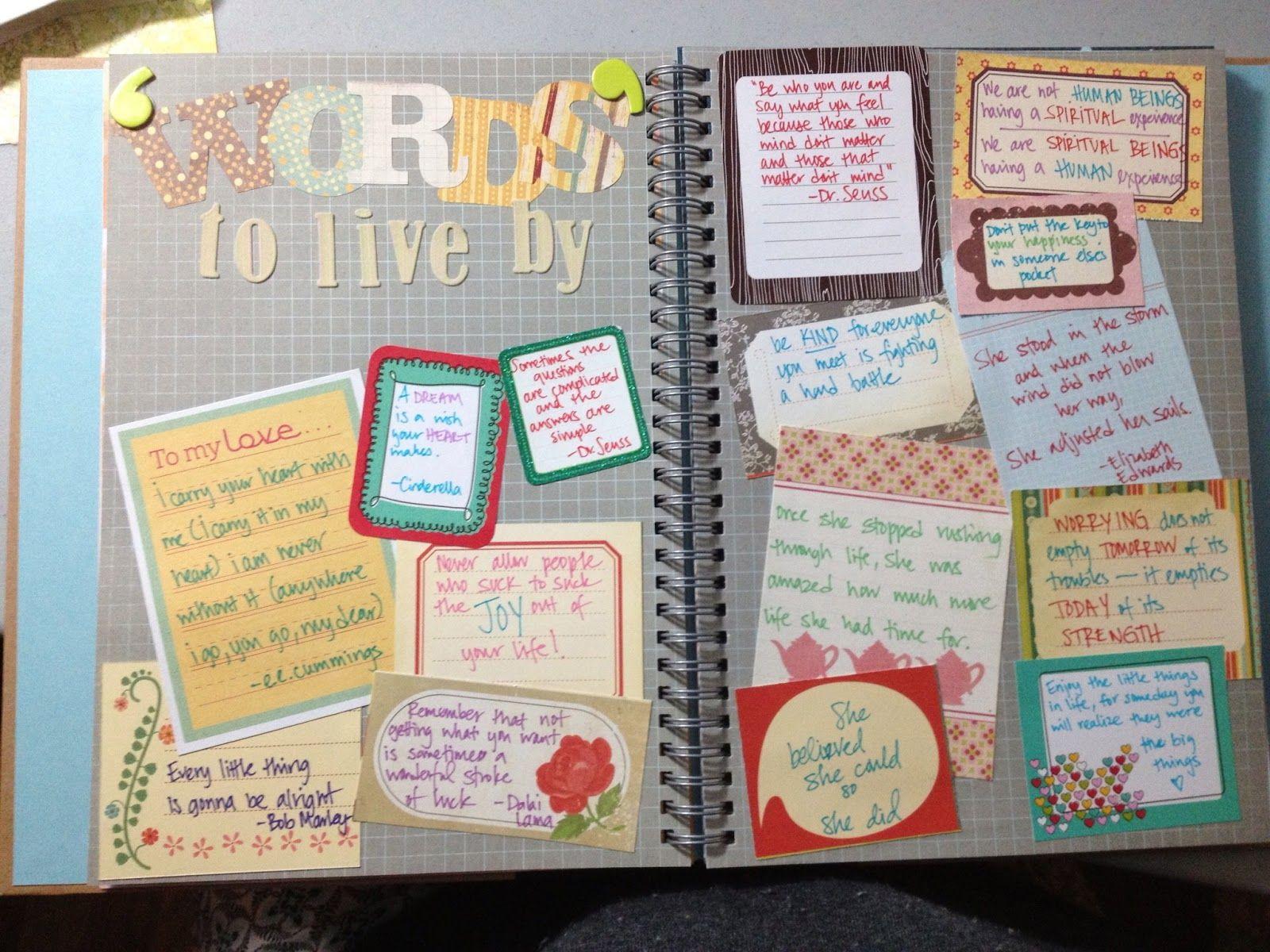 Scrapbook ideas words - Smash Book Pages Black Smashbook