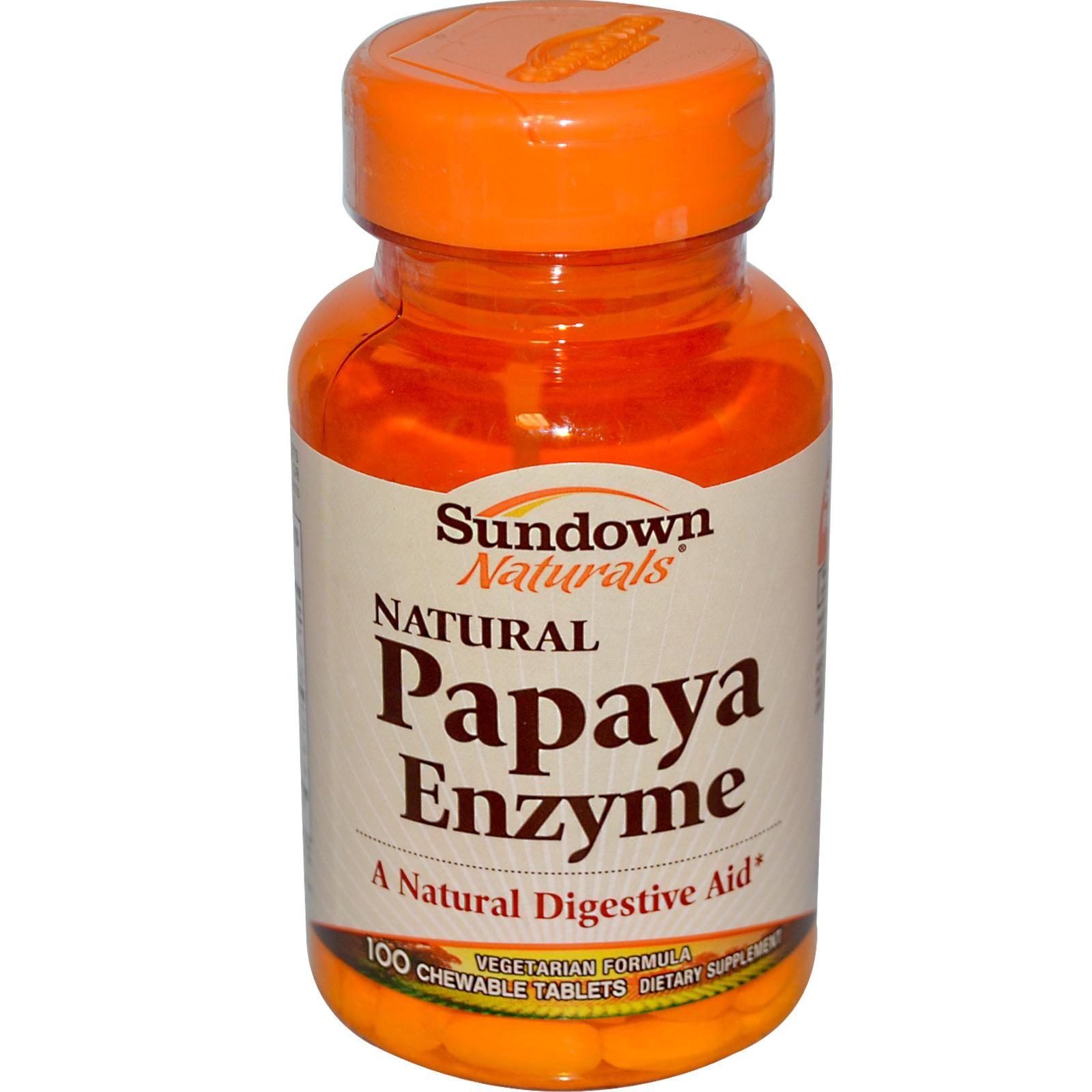 Rexall sundown naturals papaya enzyme 100 chewable tablets