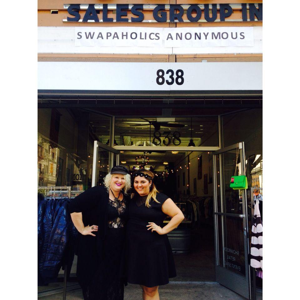 Spending Saturday at #LASwapaholics #plussize #fashionswap hosted