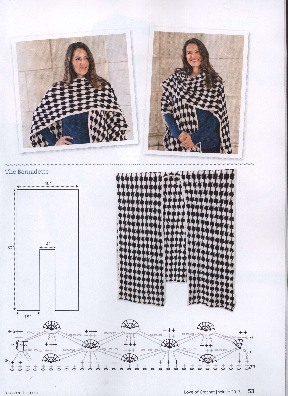 Pin de Veronica Bonino en tejidos dos ag. | Pinterest | Ponchos ...