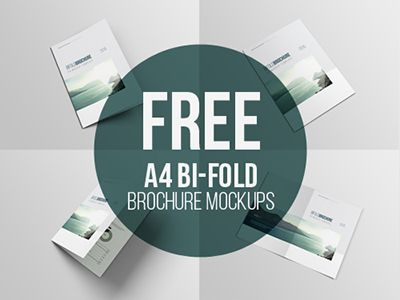 A4 Bifold Brochure Mockup Brochure Mockup Free Mockup Brochure Design