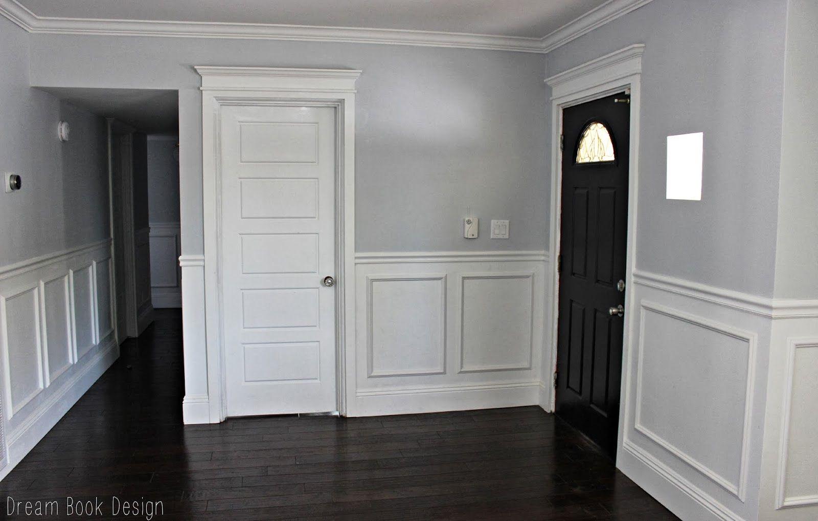 Our High Gloss Black Front Door Dream Book Design Grey Walls White Trim Black Front Doors Front Door Paint Colors