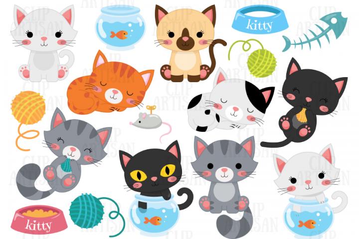 Cat Clipart Kitten Clip Art Pets Clipart