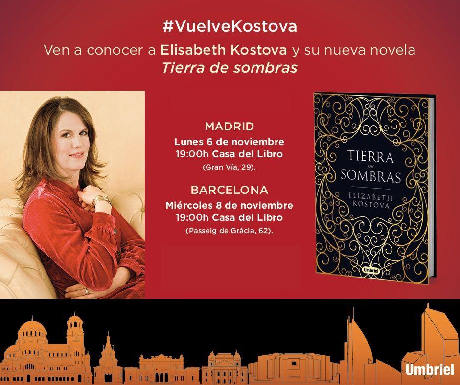¡SORTEAMOS un encuentro privado en Madrid o Barcelona con Elizabeth Kostova, la autora del bestseller 'LA HISTORIADORA'!