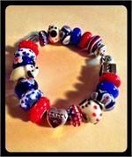 London glass bead bracelet