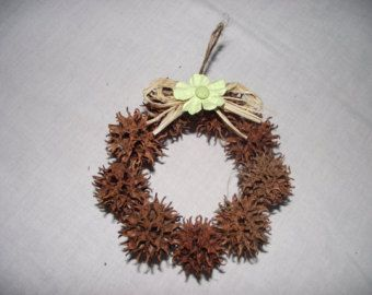 Sweetgum Balls Wreath Minature Sweetgum Ball Christmas Ornament Crafts Christmas Crafts Primitive Christmas Ornaments