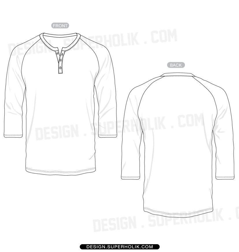 Download 3 4 Sleeve Shirt Henry Neck Fashion Body Template Form Clip Art Fashion Design Template Fashion Fashion Design