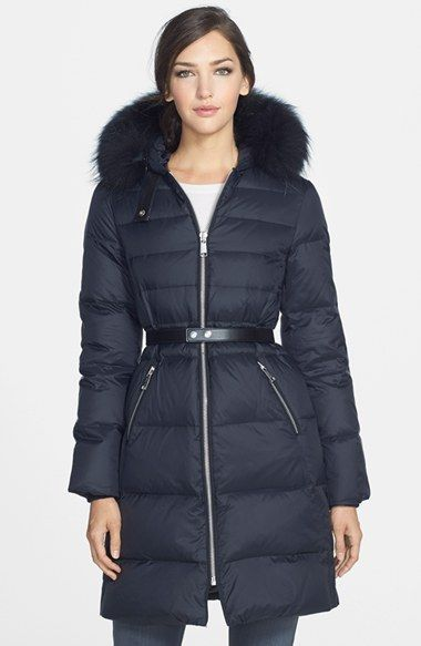 b578b564327 Andrew Marc  Gabby  Genuine Coyote Fur Trim Hooded Down Coat available at   Nordstrom