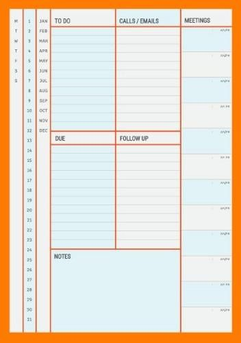 Pin On Printable Daily Planner Template Diy
