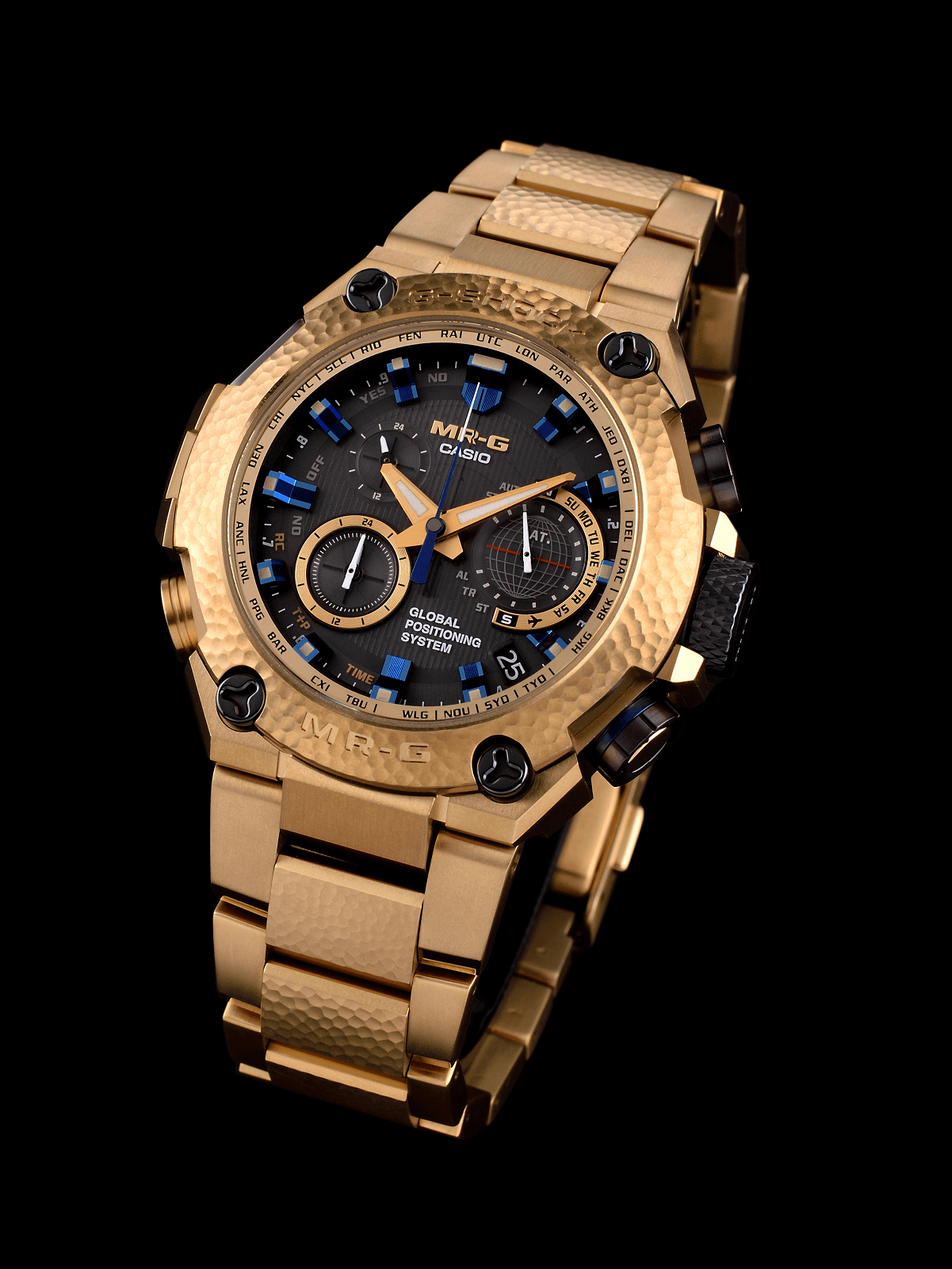 Casio G Shock Mrg G1000hg 9a Gold Hammer Tone 20th Anniversary Gd 400mb 1dr Limited Edition