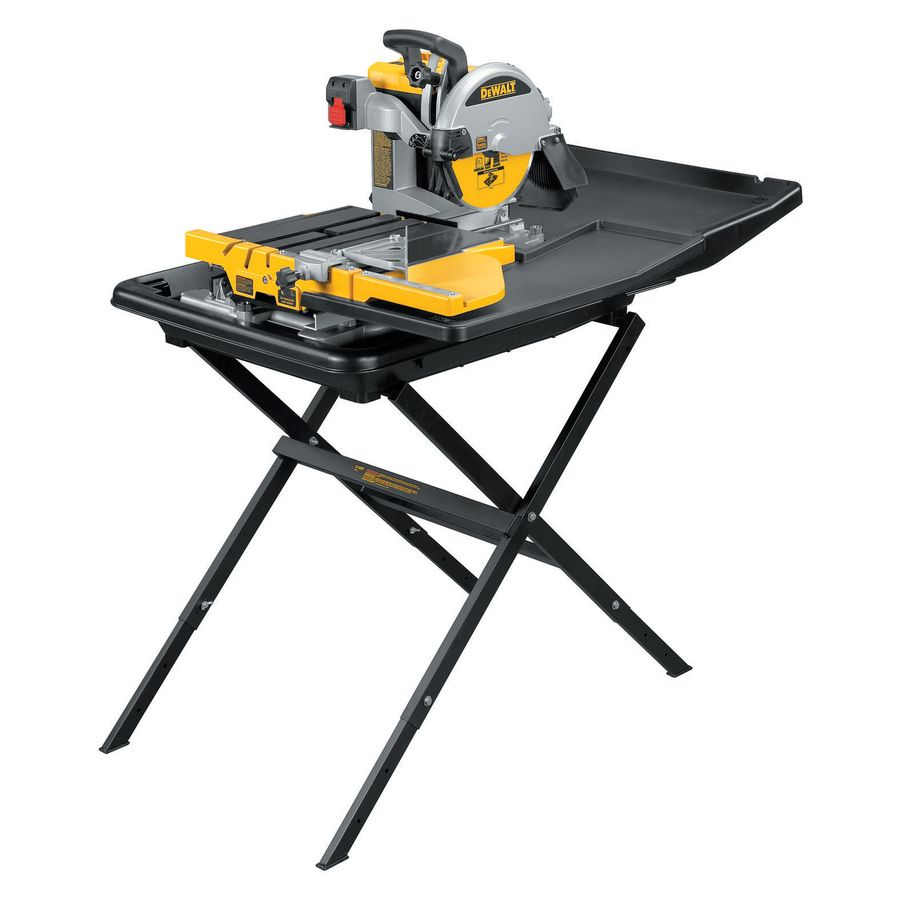 Dewalt 10 In 1 5 Wet Bridge Sliding Table Tile Saw With Stand Lowes Com Tile Saw Sliding Table Table Saw