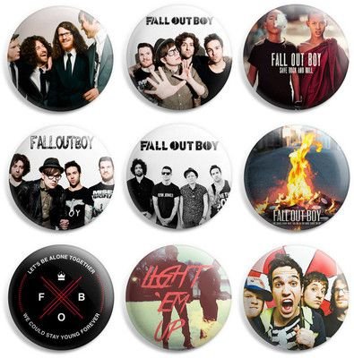 Fall Out Boy Pinback Button Pin Badge (Pack of 9)