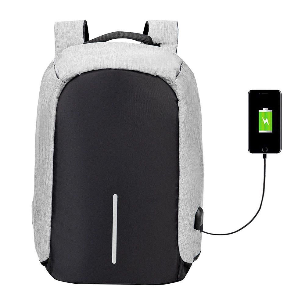 Anti Theft Men Women Laptop Notebook Backpack With Usb Charging Port Razer Utility Black School Bag Ebay