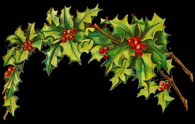 Catnipstudiocollage Free Vintage Clip Art Christmas Holly Post