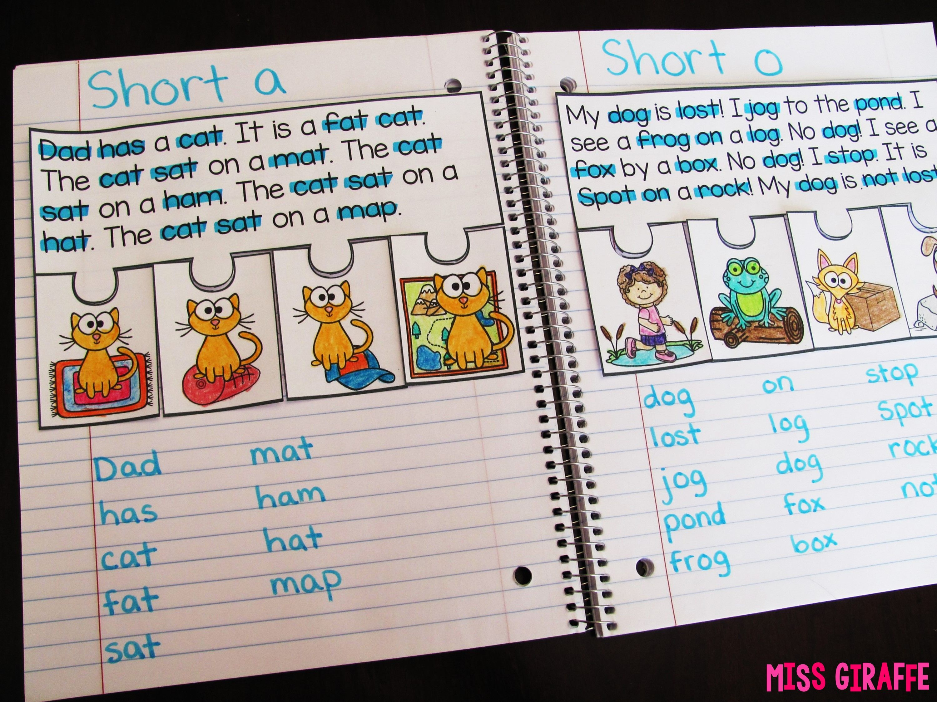Short Vowels Reading Fluency And Prehension Puzzles