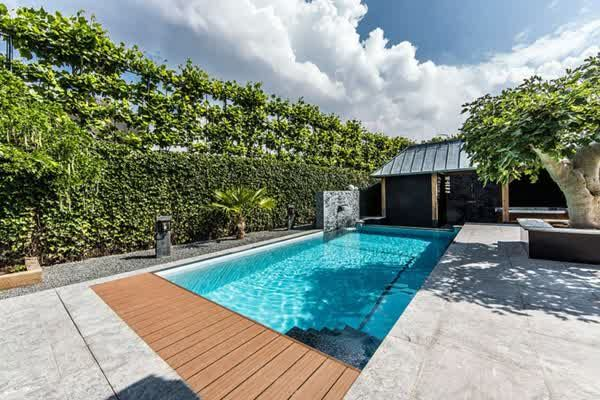 Elegant Rectangular Pool For Modern Small Swimming Pool