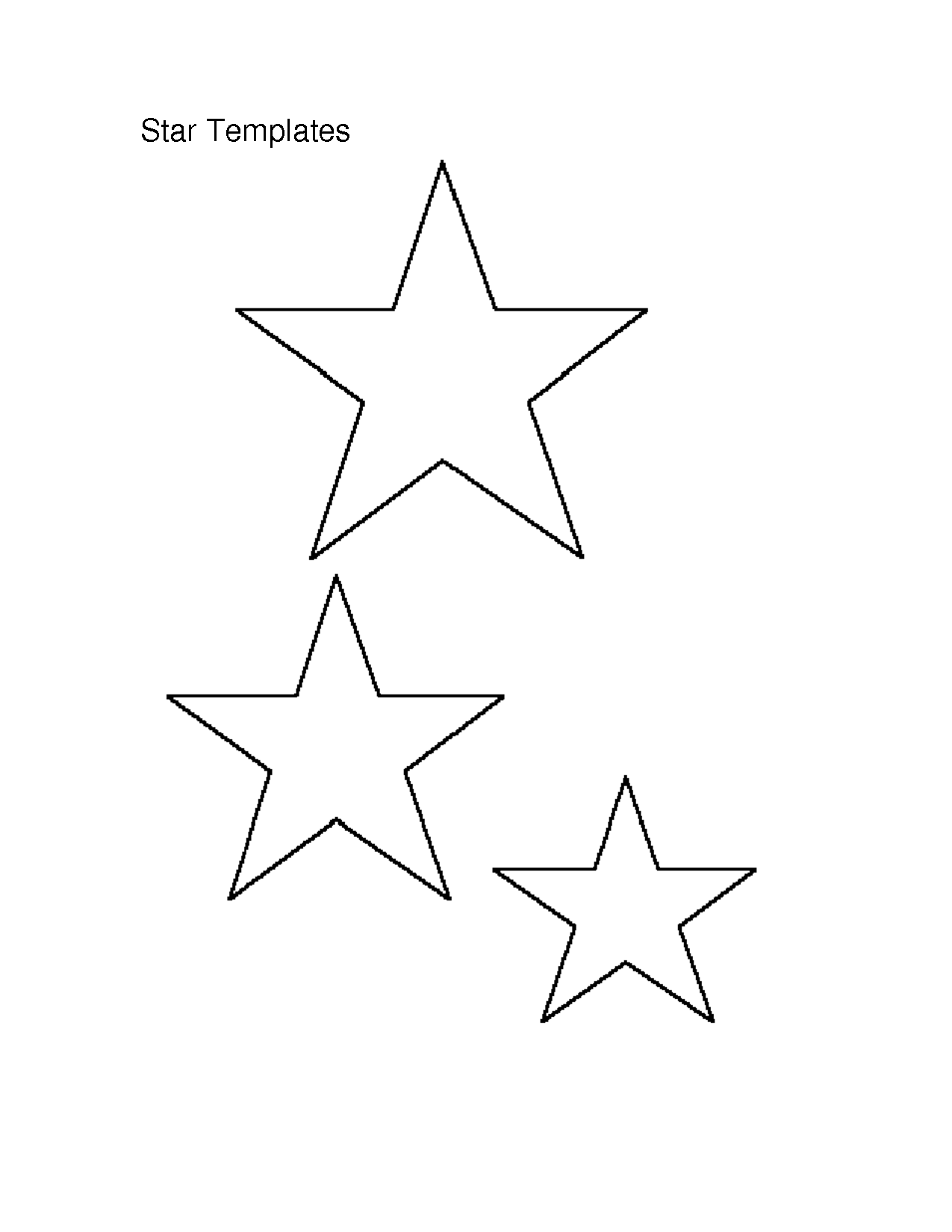 Template Of A Star Printable