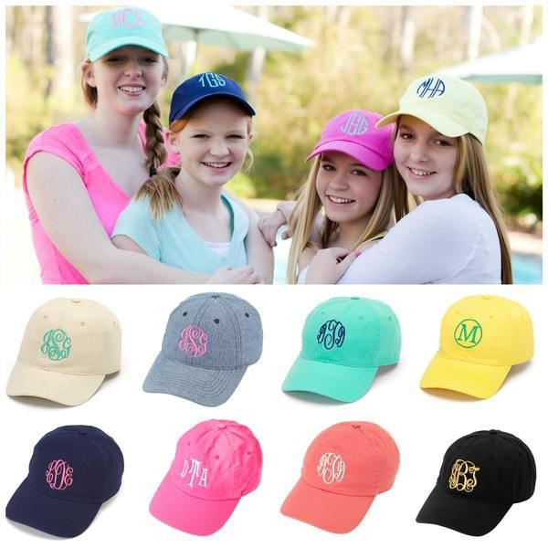 b2e6657ffda Personalized Monogram Baseball Hat Cap Womens