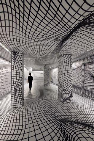 Walking the line #zienrs #grafisch #kunst #vormgeving #kijken #illusie