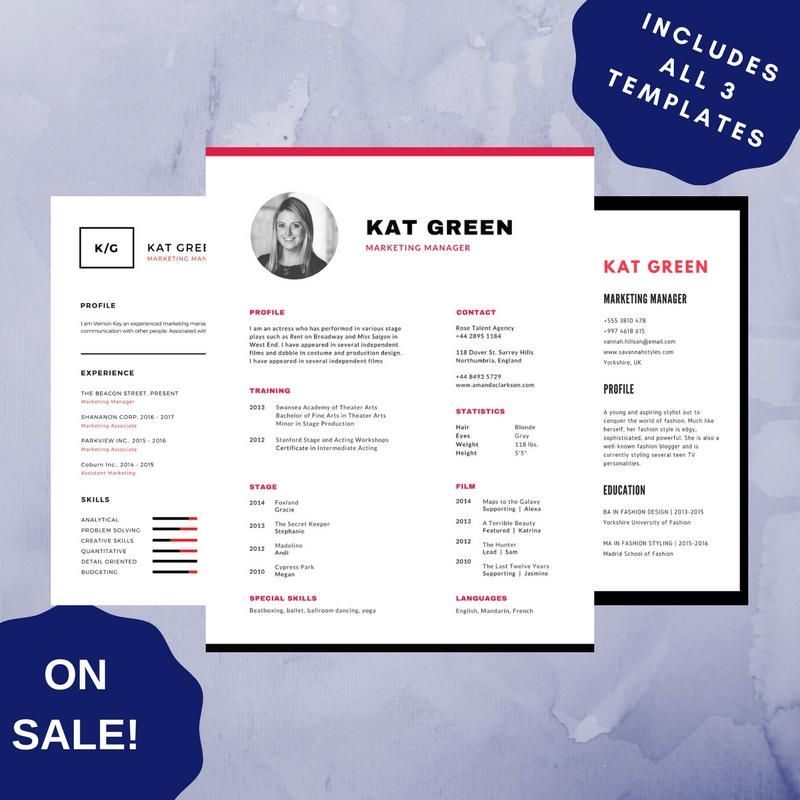 Professional Resume Template 10, CV Template for MS Word, Creative - what does cv stand for resume