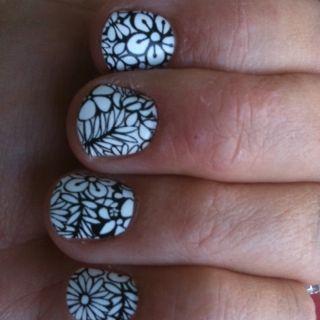 My nails.... Sally Hansen Nail Polish Strips! $7, easy, instant, enough to do twice! http://bit.ly/I3om3u