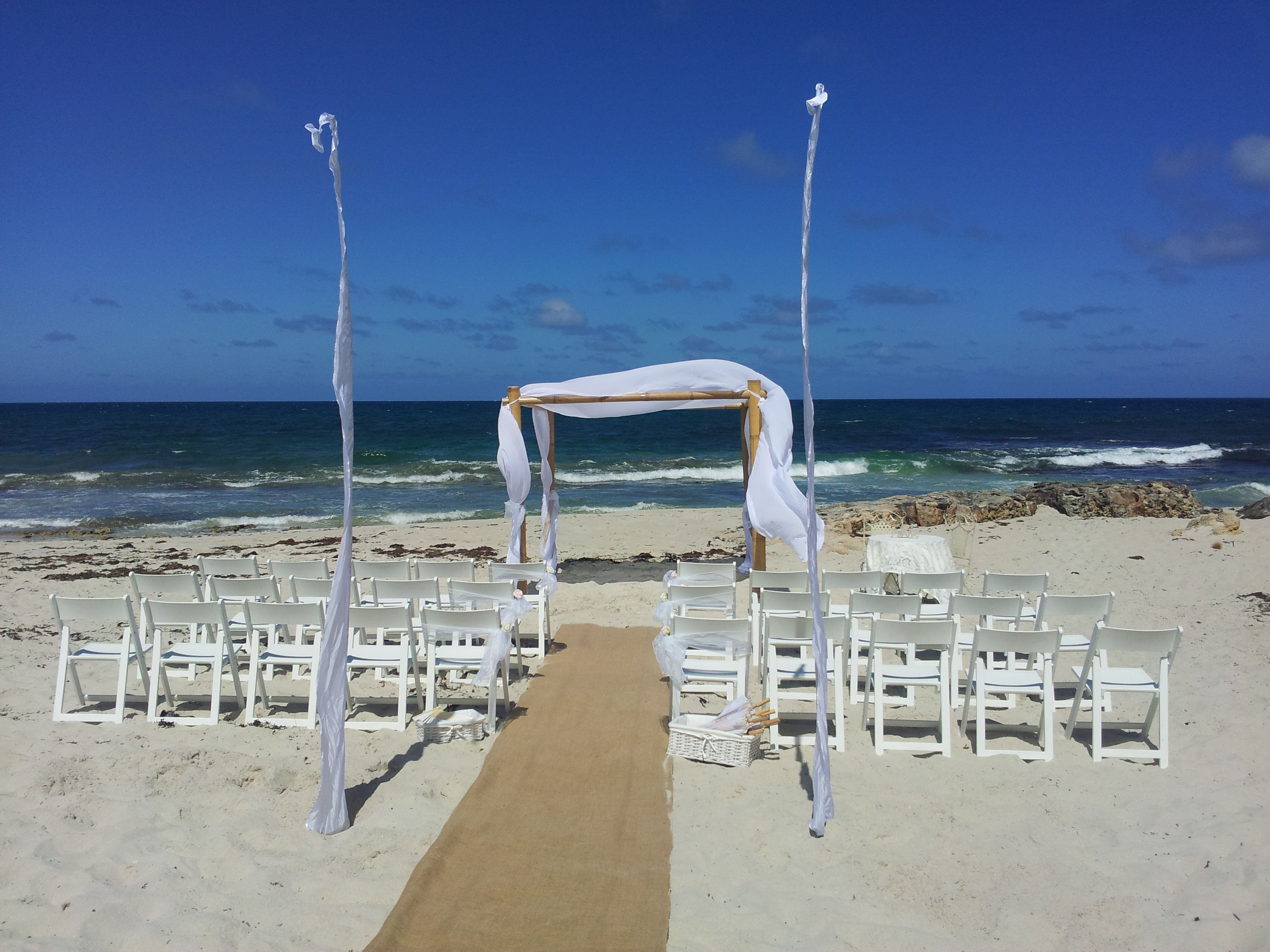 Wedding Ceremony On Iluka Beach Perth
