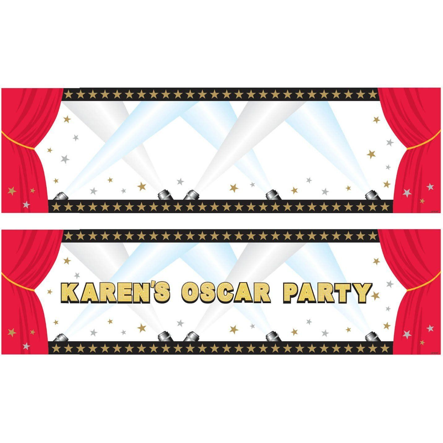 Partyartikel Roter Teppich Hollywood Personalized Giant Banner 5ft