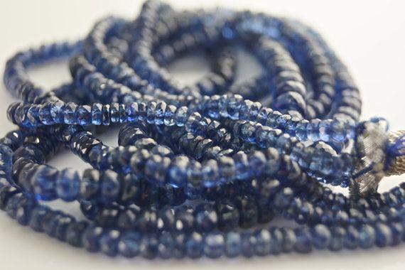 Kyanite faceted rondelles AAA Rondelles full strand by vlvp, $115.00