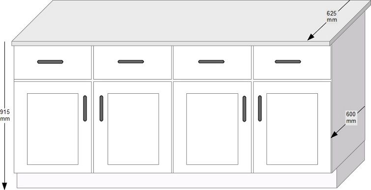 Uk standard dimensions for kitchen cabinets furniture for Average depth of kitchen cabinets