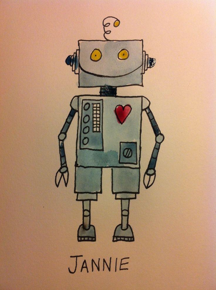 Robot Watercolor