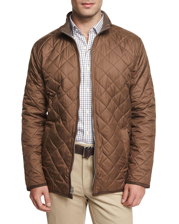 Chesapeake Lightweight Quilted Jacket, Dark Brown, Men's, Size: XX ... : lightweight quilted jackets - Adamdwight.com