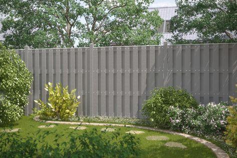 JUMBO WPC Grau Gartensichtschutz, Sichtschutz garten