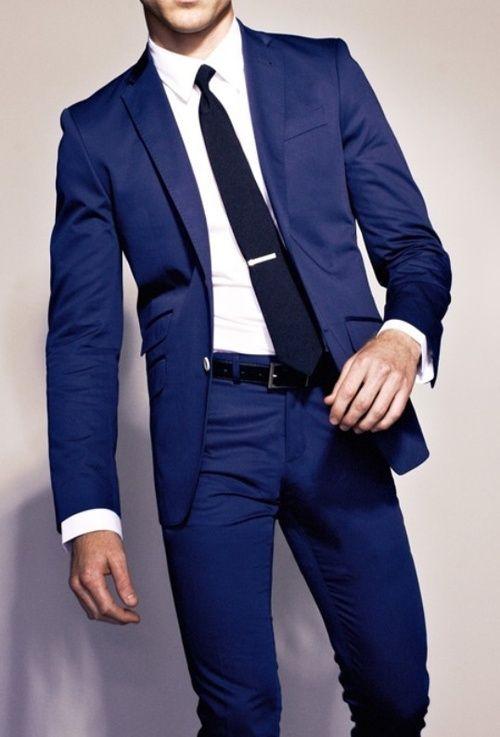 Dark Blue Suit on Pinterest | Navy Blue Suit, Navy Tuxedos ... - photo#15