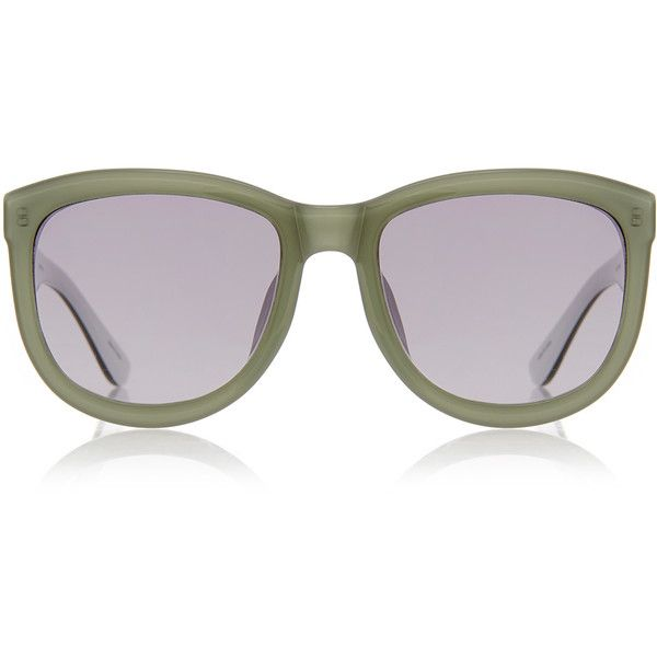 c5bc3248f40 The Row Mint and Grey D-Frame Sunglasses (995 CNY) ❤ liked on ...