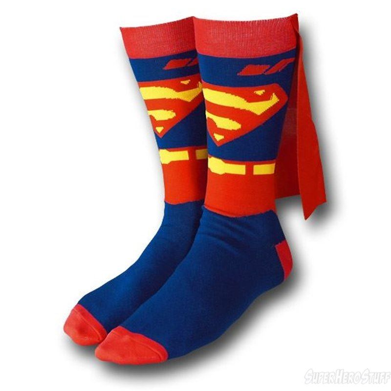 Images of Superman Crew Socks With Cape - Superman Crew Socks With Cape Crew Socks, Socks And Super Fly