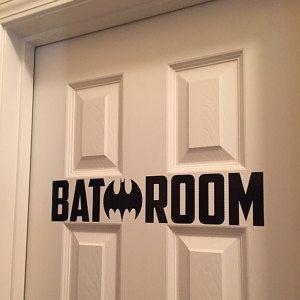 Bat Batman Bat Making H Bathroom Sign Restroom Sign Bathroom