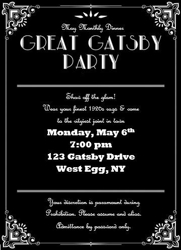 Invite and Delight Great Gatsby Gala Games and fun Pinterest - fresh formal vip invitation letter