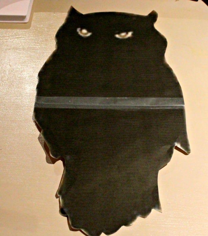 DIY Halloween Chalkboard Art For The Mantel