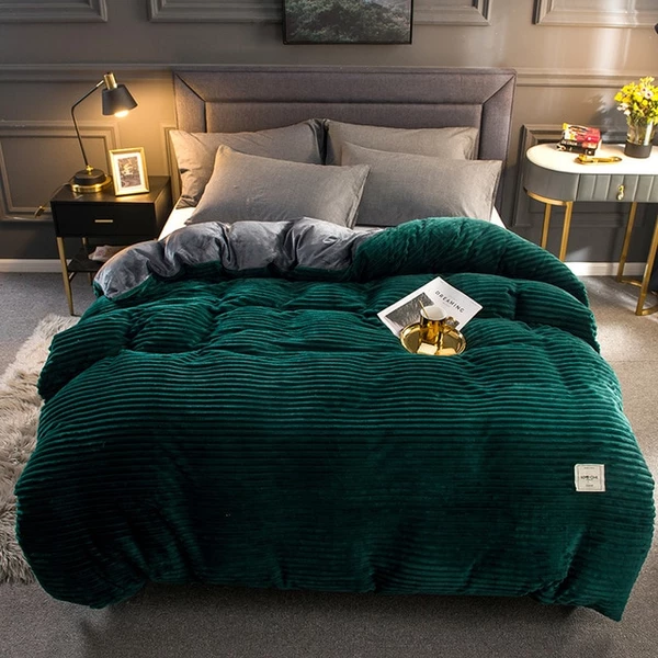 Winter Warm Soft Double Side Plush Bed Blanket Bed