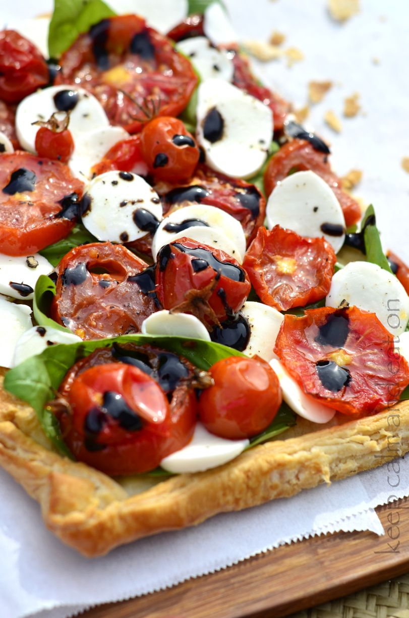 Caprese On Pastry For A Light Lunch! Ideas