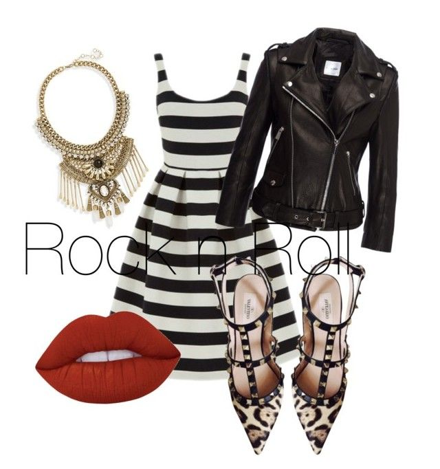 """""""rocknroll"""" by jillian1983 on Polyvore featuring Leith, Warehouse, Valentino and Lime Crime"""