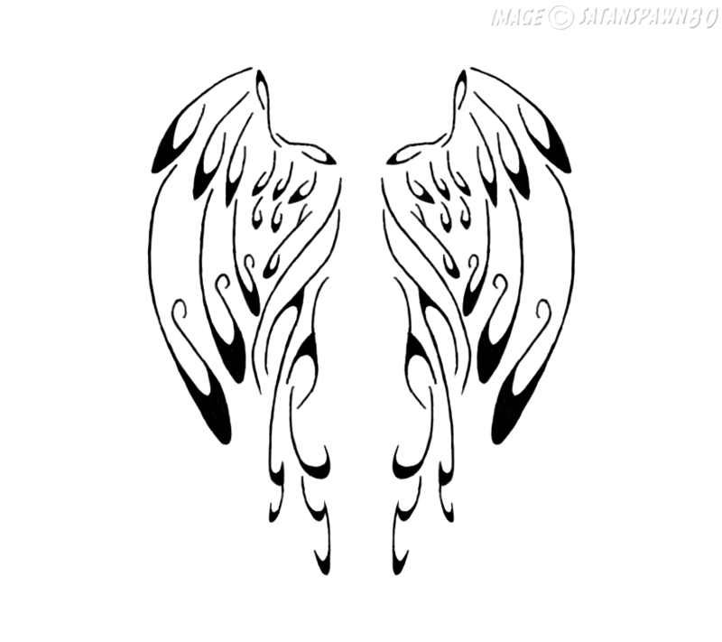 Calligraphy angel wings by satanspawn on deviantart