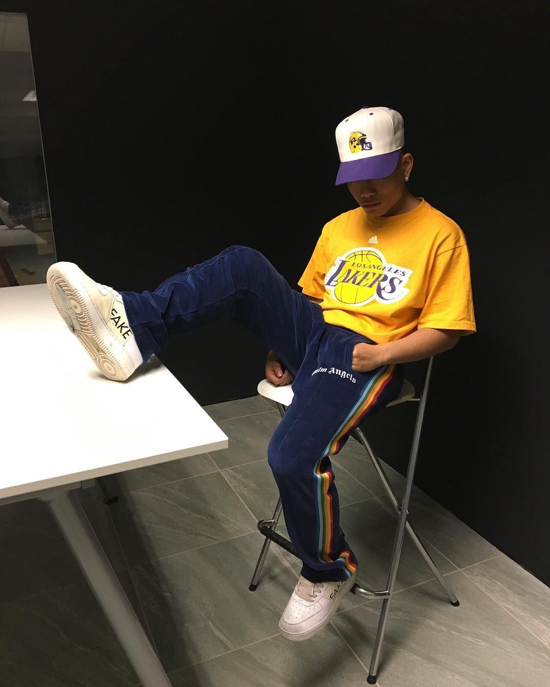 adidas Lakers Tee x Palm Angels Rainbow