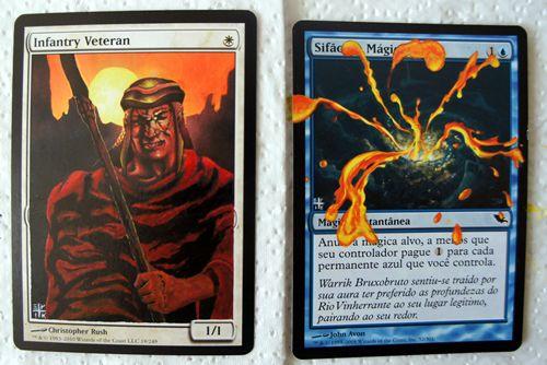 Agora alterando cartas de Magic: primeiros trabalhos.