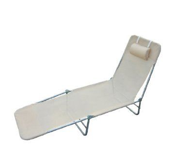 £26 OUTSUNNY SUN BED CHAIR GARDEN LOUNGER RECLINER ADJUSTABLE BACK RELAXER CHAIR FURNITURE BEIGE: Amazon.co.uk: Garden & Outdoors