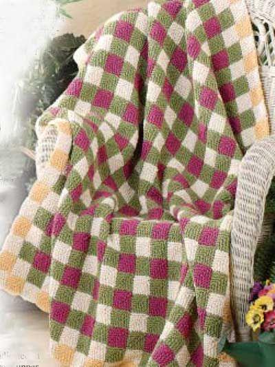 Free Knitting Pattern Building Block No Sew Afghan