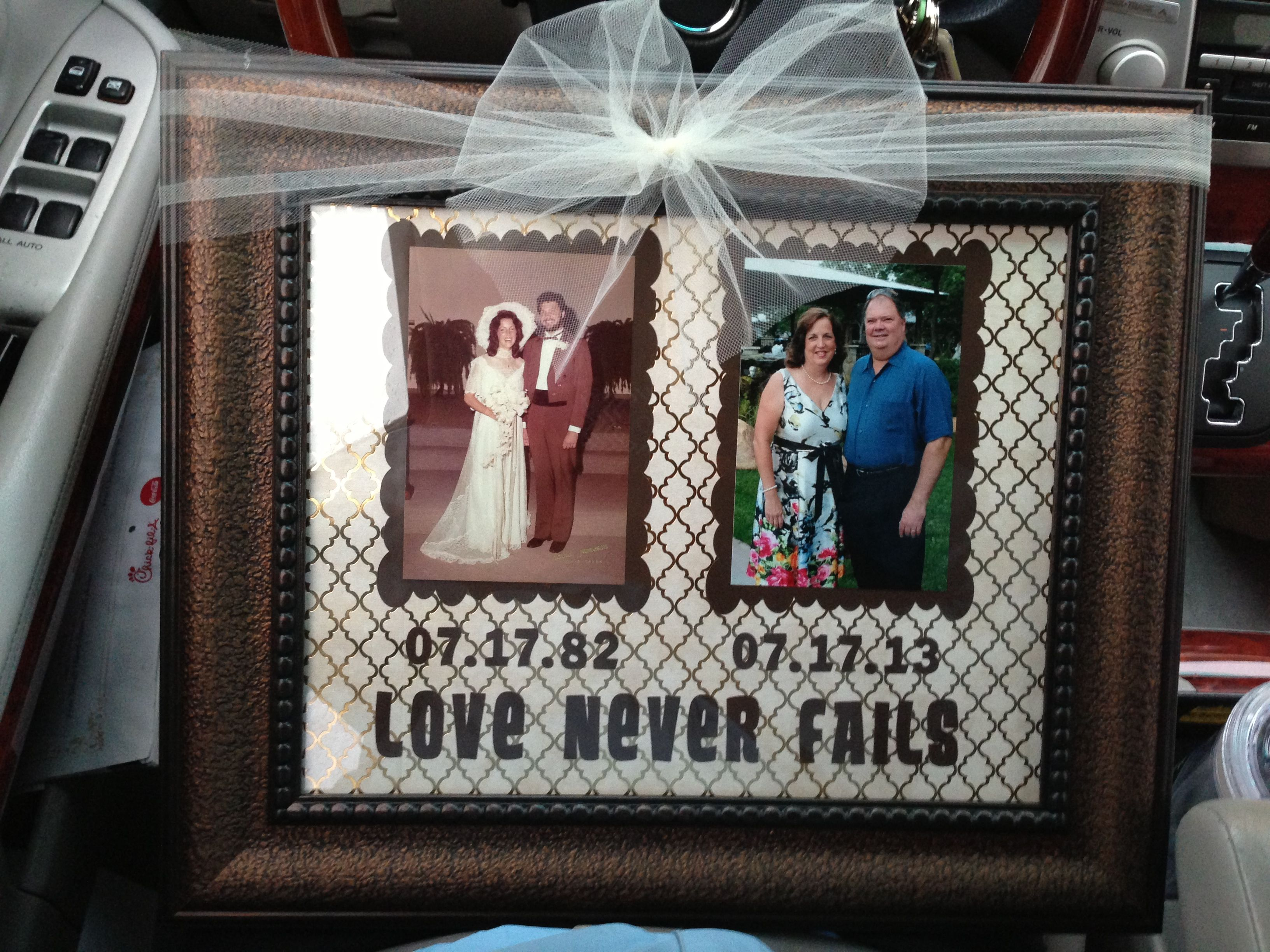 60th Wedding Anniversary Gifts For Parents: Anniversary Gift For My Parents, 1 Corinthians 13:8