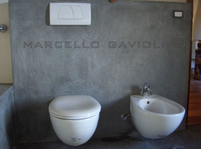 Resina effetto cemento cerca con google bagno gi mik - Bagno in resina ...
